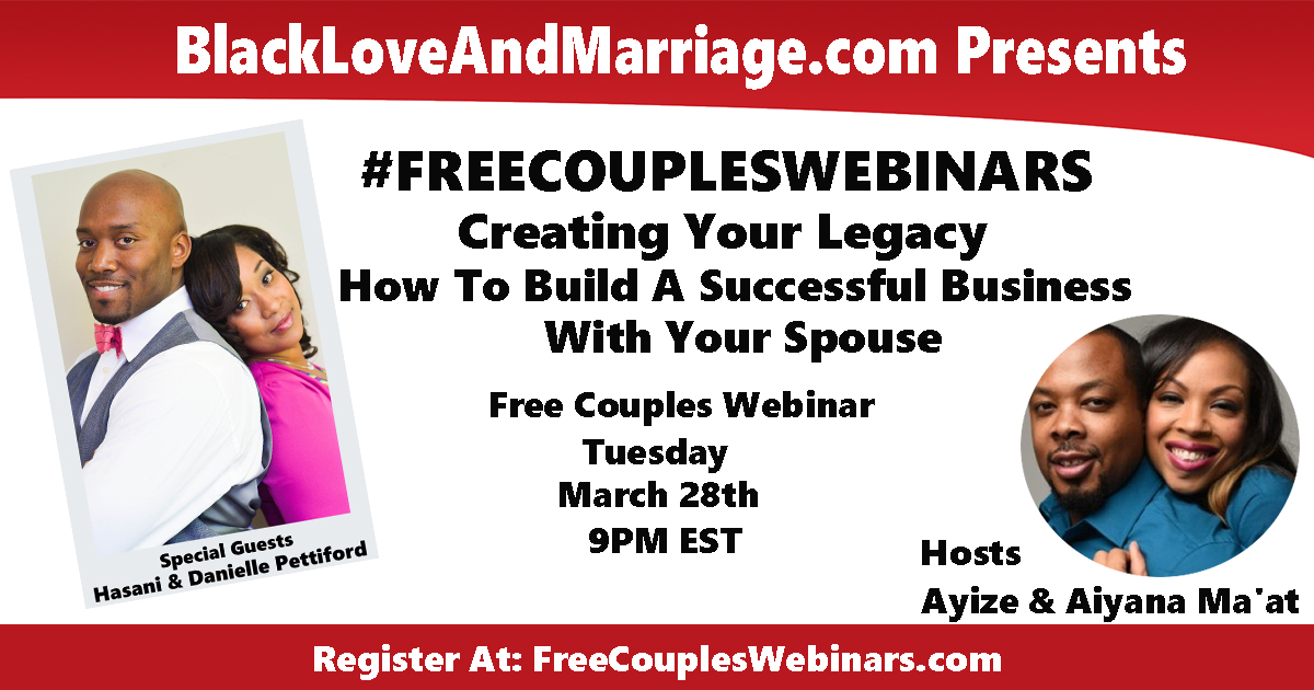 Register For This Month's Free Couples Webinar
